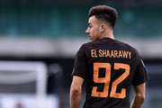 Stephan El Shaarawy of Roma looks on during the Serie A match between AC Chievo Verona and AS Roma at Stadio Marc'Antonio Bentegodi on December 10, 2017 in Verona, Italy.