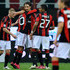 Robinho Photos - Robinho (2nd L) of Milan celebrates with his team mates after scoring his team's third goal during the Serie A match between AC Milan and US Citta di Palermo at Stadio Giuseppe Meazza on November 10, 2010 in Milan, Italy. - AC Milan v US Citta di Palermo - Serie A