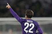Giuseppe Rossi of ACF Fiorentina celebrates after scoring a goal during the UEFA Europa League group I match between ACF Fiorentina and KKS Lech Poznan on October 22, 2015 in Florence, Italy.