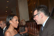 Honoree Kerry Washington and Executive Director of the ACLU of Southern California Hector Villagra attend the ACLU SoCal Hosts 2015 Bill Of Rights Dinner at the Beverly Wilshire Four Seasons Hotel on November 8, 2015 in Beverly Hills, California.