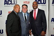 Honoree Reginald Hudlin, Hector Villagra, executive director at ACLU Southern California and Van Jones attend ACLU SoCal Hosts Annual Bill of Rights Dinner at the Beverly Wilshire Four Seasons Hotel on December 3, 2017 in Beverly Hills, California.