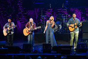 Jason Reeves, Nelly Joy, Colbie Caillat and Justin Young of the band Gone West perform onstage at ACM Lifting Lives Presents: Borderline Strong Concert at Thousand Oaks Civic Arts Plaza on February 11, 2019 in Thousand Oaks, California.