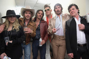 (L-R) Sandi Spika Borchetta, Jess Carson of musical group Midland, Cameron Duddy of musical group Midland, Jon Pardi (dressed as Elvis Presley), Mark Wystrach of musical group Midland, and Scott Borchetta attend ACM Stories, Songs & Stars: A Songwriter's Event Benefiting ACM Lifting Lives at The Joint inside the Hard Rock Hotel & Casino on April 13, 2018 in Las Vegas, Nevada.