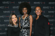 Ines Rosales, Mike Woods and Camilla Barungi pose for a photo at he ADAPT Santa Project Party Casino Night at the Down Town Association on December 03, 2019 in New York City.