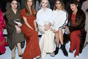 (L-R)  Molly Gordon, Angela Sarafyan, Dove Cameron, Jamie Chung and Calu Rivero attend the ADEAM Fall | Winter 2020 SHOW at the High Line Hotel on February 10, 2020 in New York City.