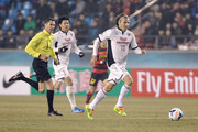 Diego Forlan of Cerezo Osaka in action during the AFC Champions League match between Pohang Steelers and Cerezo Osaka at Pohang Steelyard on February 25, 2014 in Pohang, South Korea.