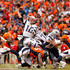 Tom Brady #12 of the New England Patriots passes in the second half against the Denver Broncos in the AFC Championship game at Sports Authority Field at Mile High on January 24, 2016 in Denver, Colorado.