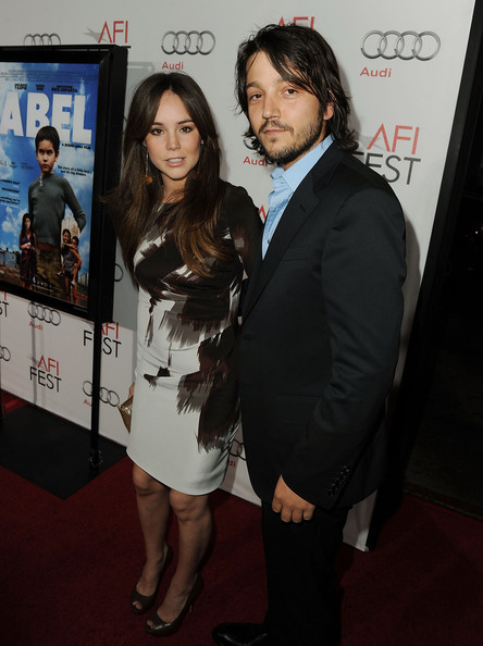 "Director Diego Luna (R) and wife Camila Sodi arrive at ""Abel"" screening during AFI FEST 2010 presented by Audi at Grauman's Chinese Theatre on November 7, 2010 in Hollywood, California."