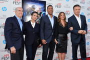 """(L-R) Founder and CEO of DreamWorks Animation Jeffrey Katzenberg, producer Nancy Bernstein, director Peter Ramsey, producer Christina Steinberg, and actor Alec Baldwin arrive at the premiere of """"Rise of the Guardians"""" during the 2012 AFI Fest presented by Audi at Grauman's Chinese Theatre on November 4, 2012 in Hollywood, California."""