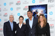 """(L-R) Founder and CEO of DreamWorks Animation Jeffrey Katzenberg, producer Nancy Bernstein, director Peter Ramsey, and producer Christina Steinberg arrive at the premiere of """"Rise of the Guardians"""" during the 2012 AFI Fest presented by Audi at Grauman's Chinese Theatre on November 4, 2012 in Hollywood, California."""
