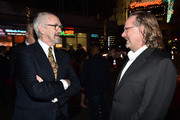 "(L-R) Jonathan Pryce and AFI President Bob Gazzale attend ""The Two Popes"" premiere during AFI FEST 2019 presented by Audi at TCL Chinese Theatre on November 18, 2019 in Hollywood, California."