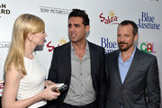 (L-R) Actors Cate Blanchett, Bobby Cannavale and Peter Sarsgaard arrive at the premiere of 'Blue Jasmine' hosted by AFI & Sony Picture Classics at AMPAS Samuel Goldwyn Theater on July 24, 2013 in Beverly Hills, California.