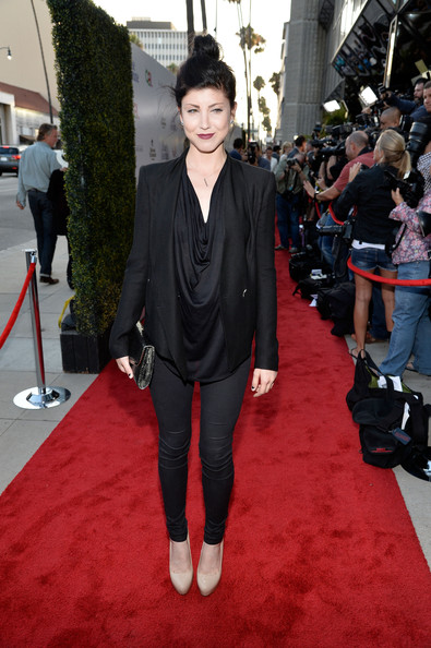 Actress Briana Cuoco arrives at the premiere of 'Blue Jasmine' hosted by AFI & Sony Picture Classics at AMPAS Samuel Goldwyn Theater on July 24, 2013 in Beverly Hills, California.