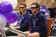 Zac Dawson and Hayden Ballantyne of the Dockers look on during the 2013 AFL Grand Final Parade on September 27, 2013 in Melbourne, Australia.