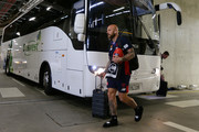 Nathan Jones of the Demons arrives before during the AFL Prelimary Final match between the West Coast Eagles and the Melbourne Demons on September 22, 2018 in Perth, Australia.