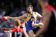 Josh Kennedy of the Eagles spills a mark during the AFL Preliminary Final match between the West Coast Eagles and the Melbourne Demons on September 22, 2018 in Perth, Australia.
