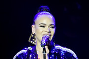 "Faith Evans performs at ""Keep the Promise"" 2019 World AIDS Day Concert In Los Angeles at The Wilshire Ebell Theatre on December 01, 2019 in Los Angeles, California."