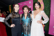 (L-R) Jamie Margolin, Janet Murguia and Andrea Navedo attend the ALMAs 2018 LIVE On Fuse at LA Live on November 4, 2018 in Los Angeles, California.