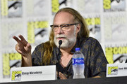 Greg Nicotero speaks at the Creepshow Panel at Comic Con 2019 on July 19, 2019 in San Diego, California.