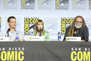 (L-R) Dave Alpert, Gale Anne Hurd and Greg Nicotero attend the Fear The Walking Dead Panel at Comic Con 2019 on July 19, 2019 in San Diego, California.