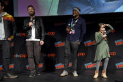 (L-R) Josh McDermitt, Ross Marquand, Seth Gilliam, and Cailey Fleming attend as AMC presents a special advanced screening of the Season 10 premier of 'The Walking Dead' at Hulu Theater at Madison Square Garden on October 05, 2019 in New York City.