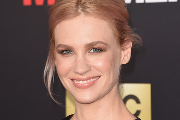 January Jones Shows Off Her Pink Strands