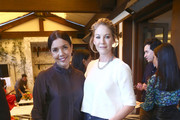 Sarah Barnett and Jenna Elfman attend AMC Emmy Brunch 2019  on September 21, 2019 in West Hollywood, California.