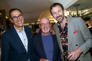 Josh Sapan, Jonathan Banks and Chris O'Dowd attend AMC Emmy Brunch 2019  on September 21, 2019 in West Hollywood, California.