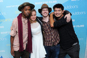 (L-R) Keith Stanfield, Brie Larson, John Gallagher and Destin Cretton attend AMPAS And Rooftop Films Special Screening Of 'Short Term 12' at Old American Can Factory on July 20, 2013 in New York City.
