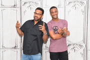 "Actors Mike Epps and Jessie T. Usher attend the AOL BUILD Speaker Series Presents: ""Survivor's Remorse"" at AOL Studios in New York on July 29, 2015 in New York City."
