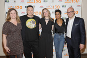 """(L-R) Erin Wanner, Kenn Bell, Kristen Collins, Tamron Hall, and Matthew Bershadker attend ASPCA & Animal Planet Host Exclusive Premiere Screening Of """"Second Chance Dogs"""" In Honor Of ASPCA's 150th Anniversary on April 10, 2016 in New York City."""