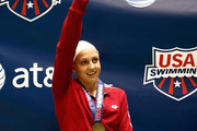 Rebecca Soni waves to the crowd after winning the gold medal in the 200 yard breaststroke during day three of the AT&T Short Course Nationals at Weyerhaeuser King County Aquatic Center on December 5, 2009 in Federal Way, Washington.