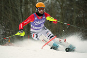 Susanne Riesch of Germany competes first run during the Audi FIS Alpine Ski World Cup Women's Slalom on March 13, 2010 in Garmisch-Partenkirchen, Germany.