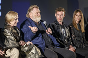 Actors Holland Taylor, Brendan Gleeson, Harry Treadaway and Kelly Lynch on stage at a FYC Screening of Mr. Mercedes at Hollywood Forever on April 15, 2018 in Hollywood, California.