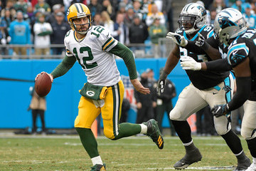 Aaron Rodgers Green Bay Packers vCarolina Panthers
