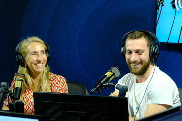 Aaron Taylor-Johnson Celebrities Visit The SiriusXM Hollywood Studio