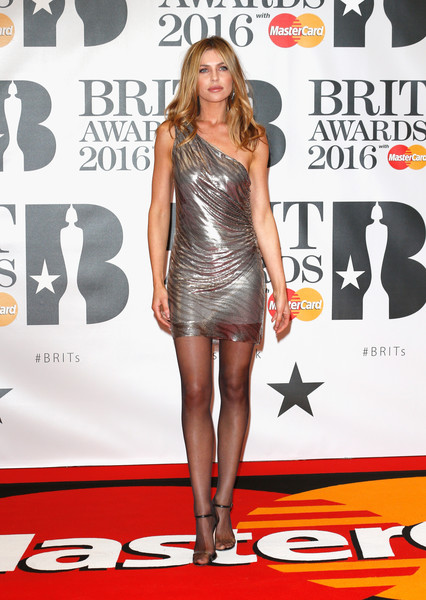 Brit Awards 2016 - Red Carpet Arrivals [clothing,dress,red carpet,carpet,cocktail dress,joint,leg,footwear,thigh,premiere,abbey clancy,brit awards,the o2 arena,london,england,red carpet arrivals]