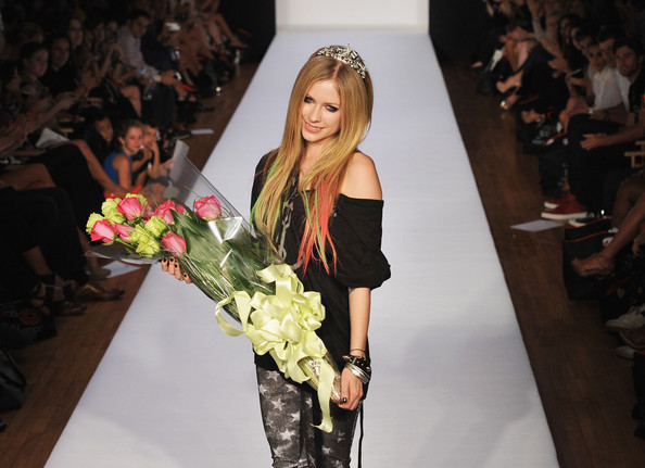 Musician/designer Avril Lavigne walks the runway at the Abbey Dawn by Avril Lavigne Spring 2012 fashion show during Style360 on September 12, 2011 in New York City.