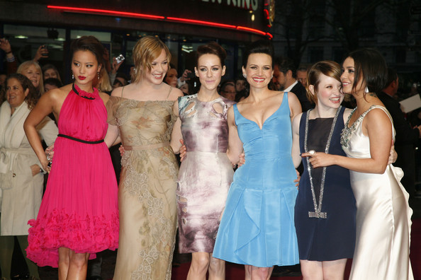 Abbie Cornish (L-R)Jamie Chung, Abbie Cornish, Jenna Malone, Carla Gugino, Emily Browning and Vanessa Hudgens attend the premiere of Sucker Punch  at Vue West End on March 30, 2011 in London, England.