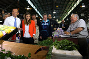 New South Wales Premier Barry O'Farrell, and Frances Abbott join Australian Opposition Leader, Tony Abbott on the campaign at Sydney Markets on September 4, 2013 in Sydney, Australia. With just three days of campaigning before Saturday's Federal Election it looks increasingly unlikely that the Australian Labor Party will hold on to government as the Liberal-National Party coalition pulls ahead in polling.