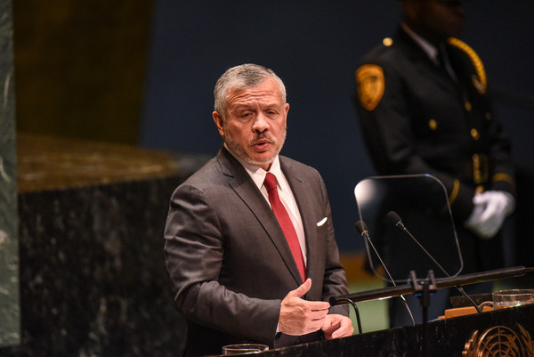 World Leaders Address United Nations General Assembly [public speaking,speech,event,spokesperson,speaker,official,orator,performance,music,musician,abdullah ii bin al hussein of jordan,antonio guterres,world leaders,warning,risk,general assembly,united nations,world leaders address united nations general assembly,session,world splitting]