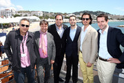 (L-R) Mohamed Hefzy, Jerome Paillard, Wayne Borg, Mohammed Al Turki, Ali F. Mostafa and Robin Colgan attend Abu Dhabi Pavilion Event during the 66th Annual Cannes Film Festival on May 17, 2013 in Cannes, France.