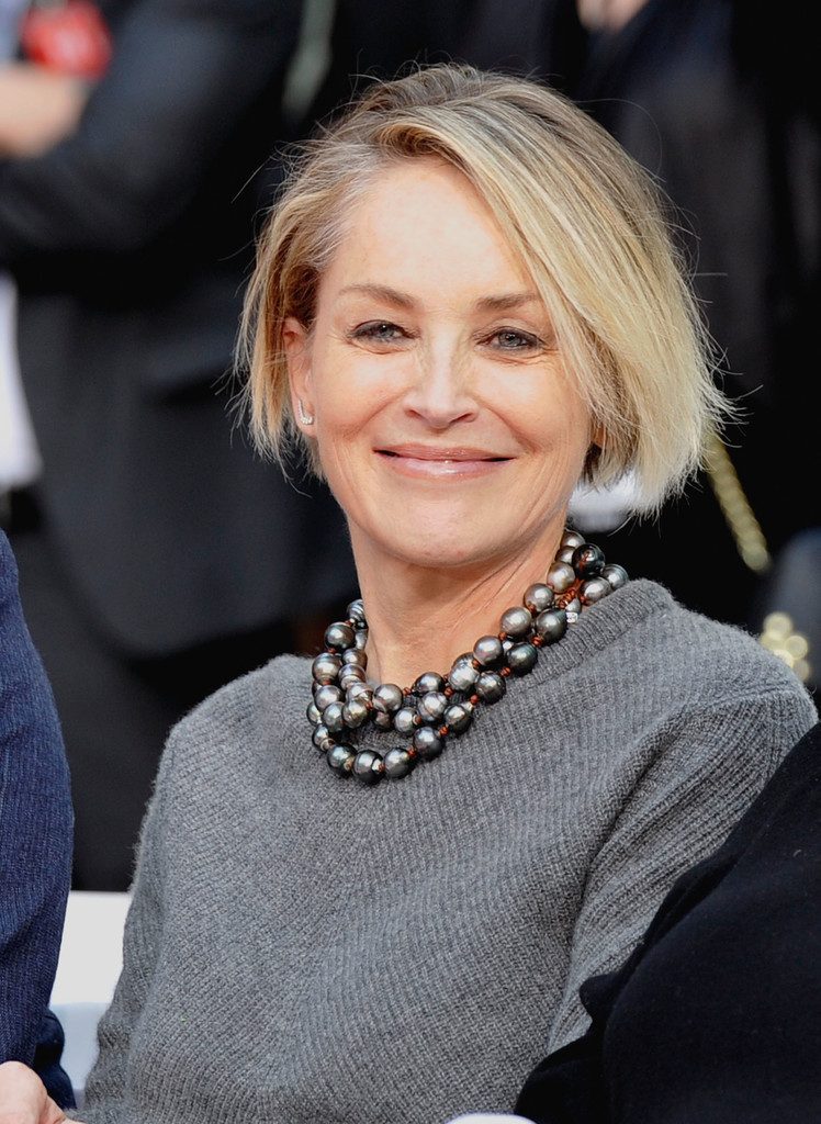 Sharon Stone Hair Short Hairstyle 2013