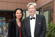 John Bailey (R) and Isabelle Giordano attend the Academy Member Soirée at the 72nd Cannes Film Festival on May 17, 2019 in Cannes, France.