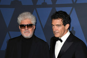 (L-R) Pedro Almodovar and Antonio Banderas attend the Academy Of Motion Picture Arts And Sciences' 11th Annual Governors Awards at The Ray Dolby Ballroom at Hollywood & Highland Center on October 27, 2019 in Hollywood, California.