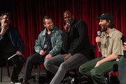 Adam Sandler, Kevin Garnett and Josh Safdie attend The Academy Of Motion Picture Arts & Sciences Hosts An Official Academy Screening Of UNCUT GEMS at MOMA - Celeste Bartos Theater on December 03, 2019 in New York City.