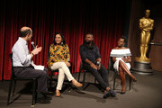 Brain Rose, Mira Nair, David Oyelowo and Lupita Nyong'o attend The Academy Of Motion Picture Arts And Sciences Hosts An Official Academy Screening Of QUEEN OF KATWE at MOMA - Celeste Bartos Theater on September 25, 2016 in New York City.