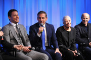 "(L-R) Actor Channing Tatum, actor Steve Carell, actress Vanessa Redgrave and producer Jon Kilik attend The Academy of Motion Picture Arts and Sciences hosts an official academy members screening of ""Foxcatcher"" at The Academy Theatre at Lighthouse International on November 11, 2014 in New York City."