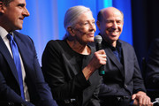 "(L-R) Actor Steve Carell, actress Vanessa Redgrave and producer Jon Kilik attend The Academy of Motion Picture Arts and Sciences hosts an official academy members screening of ""Foxcatcher"" at The Academy Theatre at Lighthouse International on November 11, 2014 in New York City."