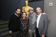 (L-R) Director Pablo Larrain, actress Natalie Portman, producer Darren Aronofsky and writer Noah Oppenheim attend a panel discussion following the Official Academy Screening of JACKIE, hosted by the Academy of Motion Picture Arts and Sciences at MOMA on November 29, 2016 in New York City.
